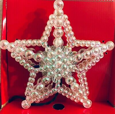 Christmas Tree Topper Clear Iridescent Bubble Color Lights Tree Topper