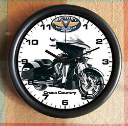 VICTORY MOTORCYCLE CROSS COUNTRY 10 inch Resin Wall Clock