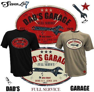 Hot Rod Classic V8 Hellcat Herren T-Shirt Biker Custom Dad's Garage Mechanik 74 - Hot Herren T-shirts