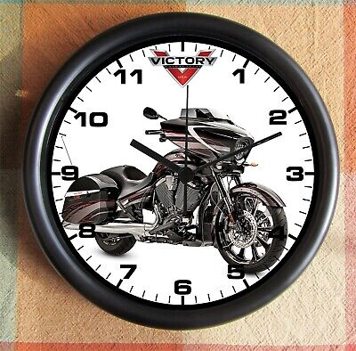 VICTORY MOTORCYCLE X1 10 inch Resin Wall Clock Motorcycle Wall Clock