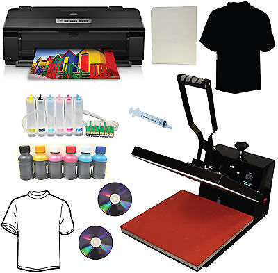 15x15 Heat Pressepson 1430 Printerciss Dye Inkheat Press Tshirt Transfer Kit