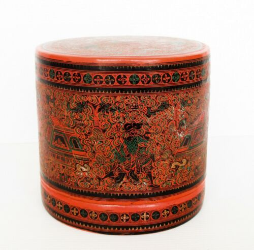 India Kashmir, Engraving on Cinnabar, Modular Storage Boxes Integrates Together