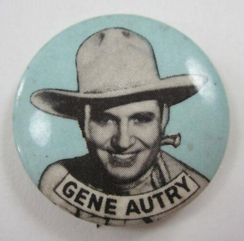Vintage Gene Autry Singing Cowboy Western Movie Star Button Celluloid 1940-50