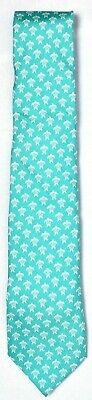 VINEYARD VINES Men's Sea Turtle Neck Tie Antigua Green 100% Imported Silk (Sea Turtle Tie)