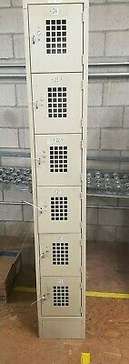 Employee Or Gym Lockers 6 Bay 14 W X 78h Steel Qty Avail Local So Cal Pick Up