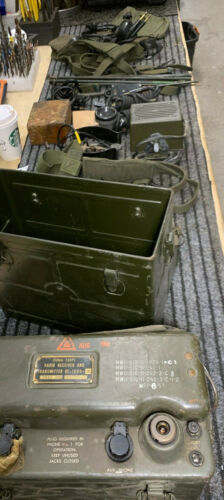 WW2 Radio BC-1000 SRC300 Complete FULL Setup USGI antenna accesories speaker