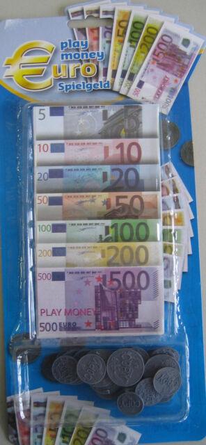Spielgeld Spiel Geld Euro Scheine Münzen Geldscheine