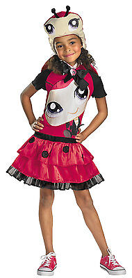 LITTLEST PET SHOP LADYBUG CHILD HALLOWEEN COSTUME GIRL'S SIZE SMALL (4-6)