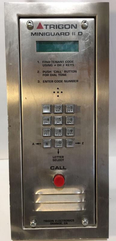 Trigon Miniguard IID Digital Display Directory Telephone Entry Intercom System