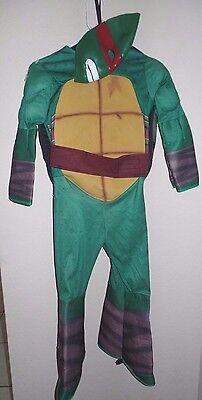 boys MEDIUM HALLOWEEN COSTUME jumpsuit mask RAPHAEL NINJA TURTLE RED shell cute!