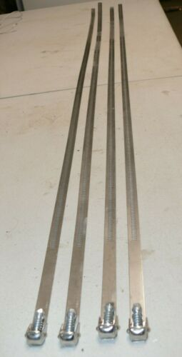 """LOT of 4 Each 51"""" Long IDEAL SNAPLOCK Stainless Clamps - 16"""" Diameter Max"""