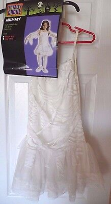 girls NEW NIP MUMMY HALLOWEEN COSTUME dress sleevelets size LARGE 12/14 tutu @@ - Girls Mummy Costume