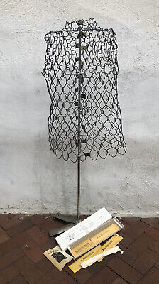 Vtg My Double Dress Form Model A Adjustable Metal New Old Sock All Parts Dritz