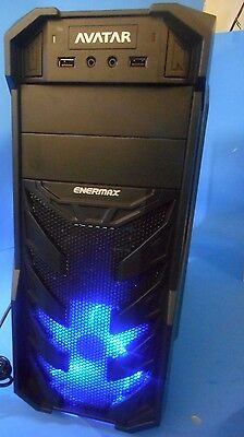 Enermax Black Atx Computer Case - Black Enermax Thorex Avatar ATX Mid-Tower LED 120MM Fan Desktop Gaming PC Case