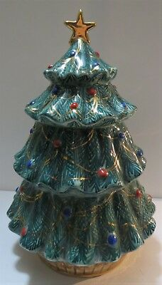 Hand-Painted Christmas Tree Cookie Jar Made in Italy Christmas Tree Cookie Jar
