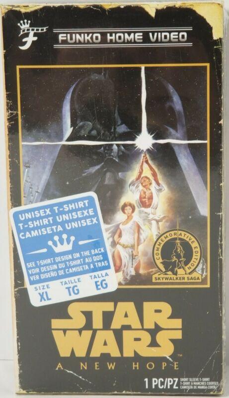"T-SHIRT Funko Disney Star Wars ""A NEW HOPE"" Unisex in VHS BOX, Size: X-LRG~Black"