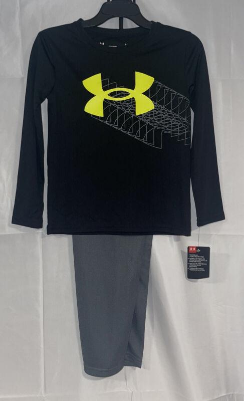 UNDER ARMOUR 2 Pc Long Sleeve Shirt & Pants Boys Size 7  NWT