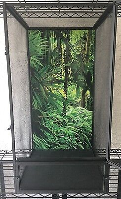 Zoo Med ReptiBreeze BACKGROUND INSERT, Medium 16 x 16 x 30 Inch JUNGLE. NOT CAGE