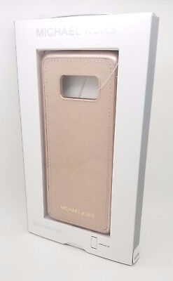 Michael Kors Saffiano Phone Cover without Pocket for Galaxy S8 - Rose Gold