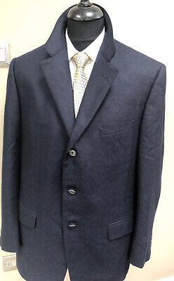 Mens Gianni Versace Couture Wool Cashmere Slim Fit Herringbone Blazer Jacket XXL