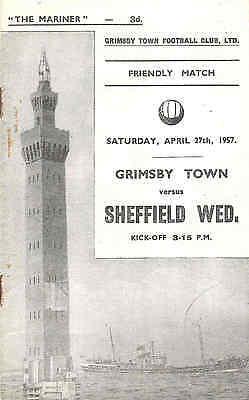 GRIMSBY TOWN v SHEFFIELD WEDNESDAY  Friendly   1956/7