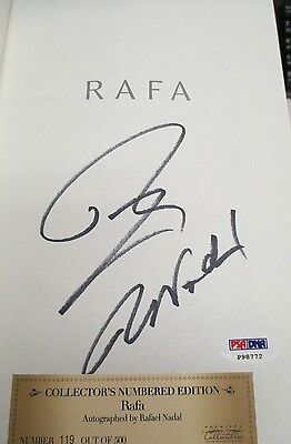 PSA/DNA RAFAEL NADAL AUTO SIGNED 2011 FIRST EDITION RAFA TENNIS BOOK /500 P98772