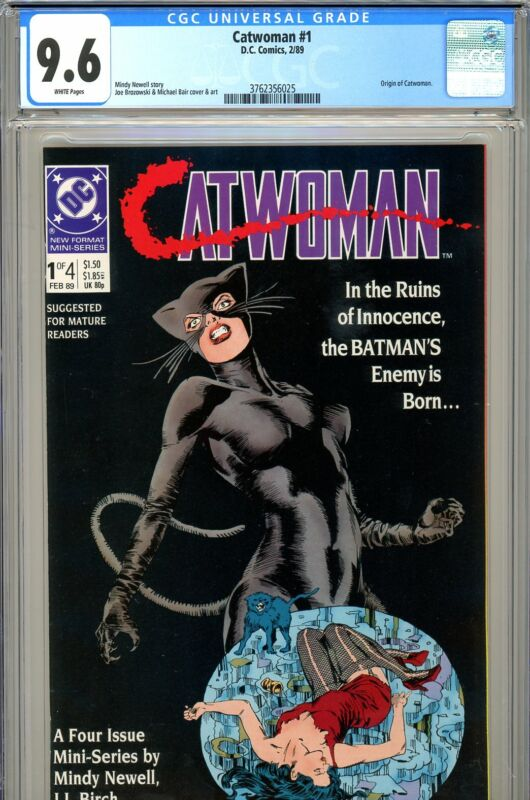 Catwoman #1 CGC GRADED 9.6 - second highest graded - origin Catwoman - 1989