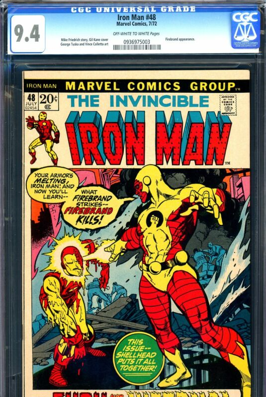 Iron Man #48 CGC GRADED 9.4 - third highest graded - Firebrand appearance