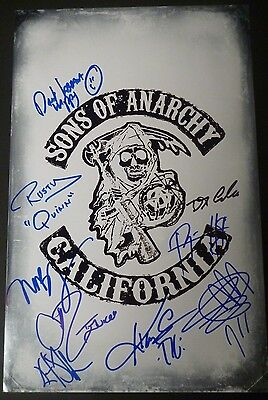 Sons Of Anarchy Cast X9  Authentic Hand Signed 11X17 Photo  Ryan Hurst  Proof