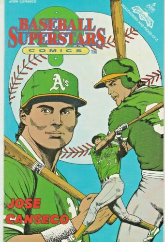 BASEBALL SUPERSTARS #6  JOSE CANSECO  REVOLUTIONARY COMICS 1992 NICE!!!