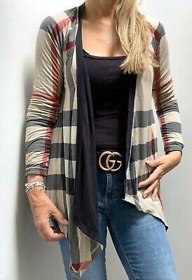 STUNNING REVERSIBLE BURBERRY CHECK JACKET CARDIGAN COAT SIZE SMALL