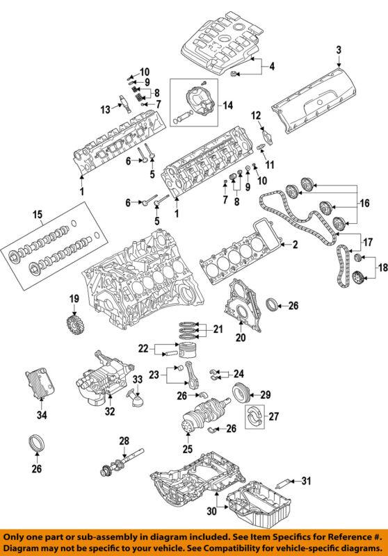Audi Oem 07-11 S6-engine Cylinder Head 07l103904ax