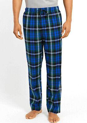 New Mens Nautica Sleepwear Blue Green Plaid Flannel Pajama Lounge Pants XL