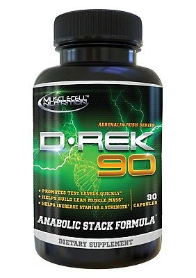 D-REK 90 Anabolic Testosterone Booster Estrogen DHT Blockers #1 Legal Steroid