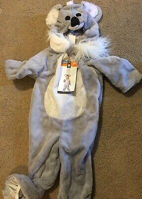 NWT Target Toddler's Unisex Plush Koala Jumpsuit Halloween Costume Sz 18-14 Mth (Target Toddler Halloween Costumes)