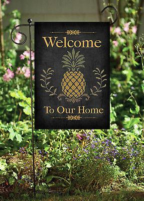 - Welcome to Our Home Pineapple  Double Sided Soft Flag   **GARDEN SIZE**   FG1048