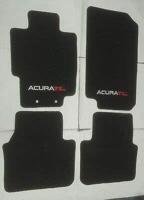 FIT FOR 2004-2008 ACURA TL CARPET FLOOR MATS BLACK W/Emblem