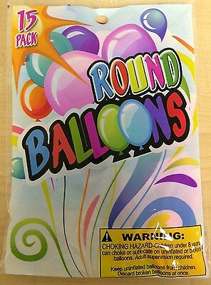 Pack of 15 Latex Round Balloons (Round Balloons)
