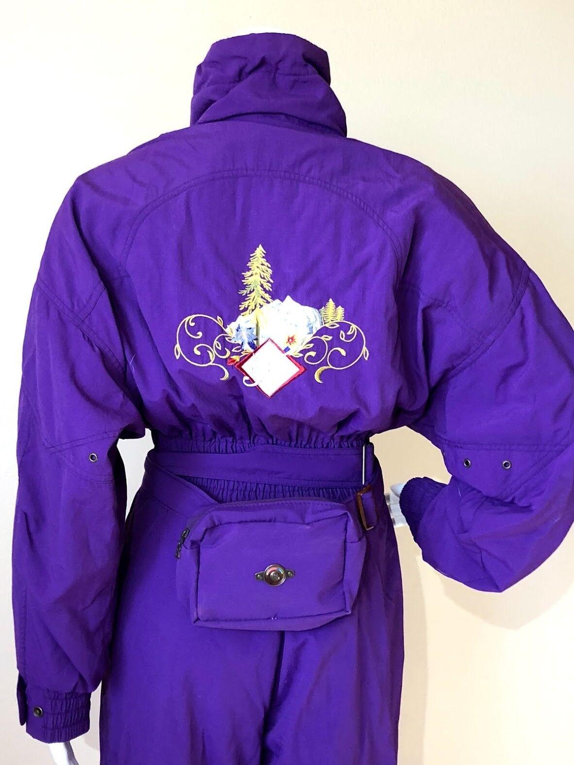 Купить Bogner - Vintage Ladies BOGNER Purple SKI SNOWSUIT CANADIAN WILDS & Fanny Pack STUNNING 8