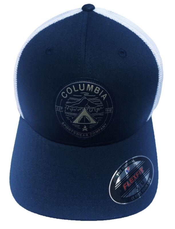 060301a54c034 Columbia Unisex Whipstaff Flexfit Mesh Ball Cap Hat S M L XL ...