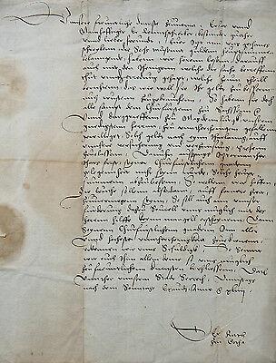 URKUNDE HANDSCHRIFT THÜRINGEN GOTHA KURFÜRST VON SACHSEN RENTSCHREIBER 1544