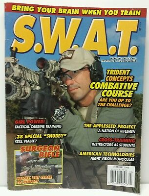 Used, S.W.A.T. SWAT Magazine Back Issue February 2008 for sale  Shipping to Canada