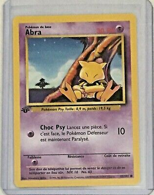 ABRA 1st Edition 43/102 Vintage Pokemon FRENCH Base Set N/MINT CONDITION Card