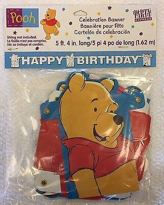 Winnie The Pooh Happy Birthday Banner Decoration Party Supplies Sign