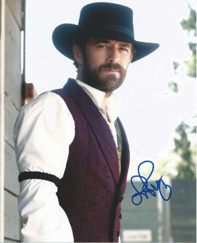 ACTOR LUKE PERRY BEVERLY HILLS 90210 SIGNED 8X10 PHOTO W/COA DYLAN MCKAY D