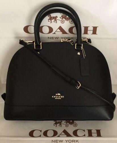 Coach Crossgrain Sierra Satchel - Black , Medium