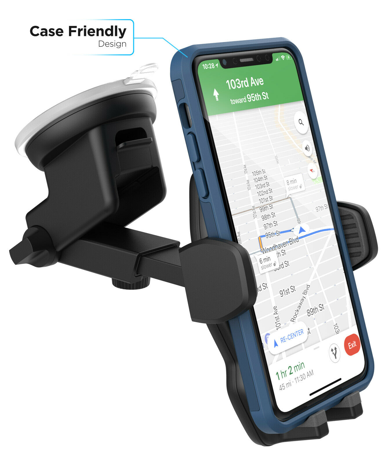 Phone Car Mount Holder Windshield Vent For iPhone X XR XS Ga