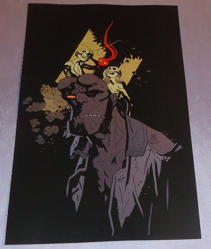 HELLBOY~COVER ART PRINT~MIKE MIGNOLA ART~THE SERPENT SEPARATES THE SKELETONS~