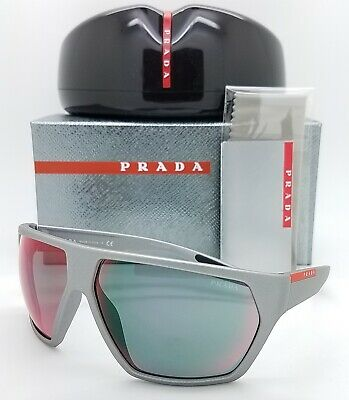 New Prada Sport sunglasses PS 08US 4499Q1 67mm Grey Red Mirror AUTHENTIC PS08 (67mm Sunglasses)