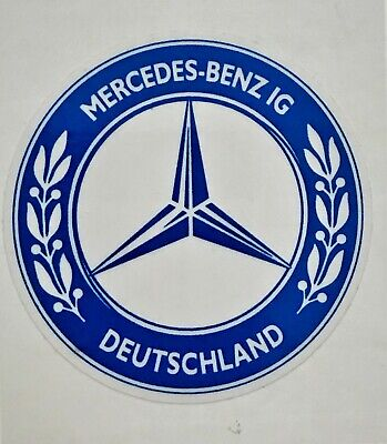 MBIG Aufkleber rund Stern Mercedes Benz IG  blau Daimler Benz